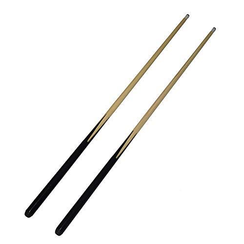 East Eagle 36 Inch Short Wooden Stick 1-Piece Hardwood Billiard Pool House Cue-Set of 2