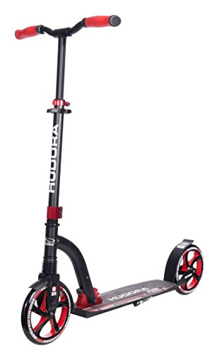 HUDORA Big Wheel Scooter Flex 200,Tret-Roller Stoßdämpfung - City-Scooter, rot, 14249