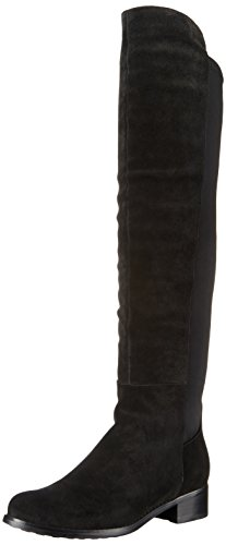 Blondo Women's Velma Waterproof Riding Boot, Black Suede, 9 M US
