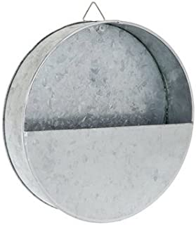 Galvanized Round Metal Wall Planter - 8 1/2