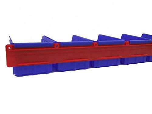 Preisvergleich Produktbild 10 Stapelboxen blau Gr. 2 und 2 Plastikwandschienen Einhängeleiste Hobby
