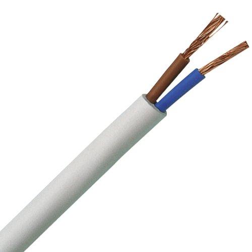Kopp 151505841 Schlauchleitung H03 VV-F, 2 x 0.75 mm², 5 m, weiß