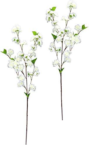 Kirschblütenzweig 2er Set, 88 cm, Frühjahrsdeko, Frühlingsdeko, Osterdeko, Kunstblumen, Künstliche Blumen