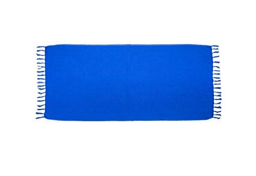 MANUMAR sarong opaco de mujer como minifalda (155x55cm) | toalla de playa pareo para niños con hebilla | tela ligera azur con flecos/borlas para niños | unicolor | bikini | bali