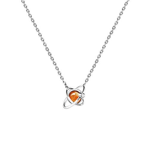 Collares Mujer Creative Planet collar femenino clavícula cadena de la personalidad de plata esterlina colgante Marte planetario regalo (cinco colores disponibles) Collares Colgantes ( Color : B )