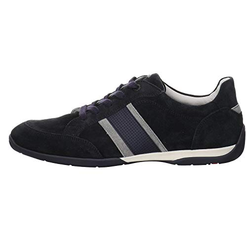 LLOYD Herren Sneaker BONO, Männer Low-Top Sneaker,lose Einlage,strassenschuh,Business,Freizeit,maennlich,Men,Man,Pilot/Platin/Blue,48 EU / 12.5 UK