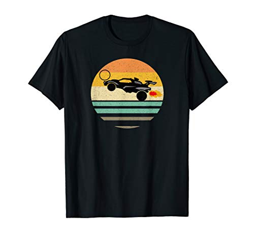 Octane Rocket Soccer Retro Sunset Distressed Graphic T-Shirt