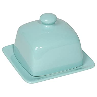 Now Designs Square Butter Dish, Eggshell