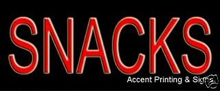 Sponsored Ad - Snacks Neon Sign (Glass Tubing)