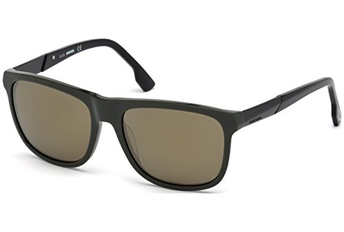 Gafas de sol Diesel DL0187 C57 98G (dark green/other / brown mirror)