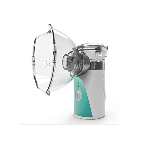 GXLO Tragbare Steam Inhaler wiederaufladbare Tasche Mit Masken für Kinder für Kinder Mini Mesh Inhalor Vaporizer Zerstäuber Verwenden Sie den stillen Ultraschallbefeuchter,Grün