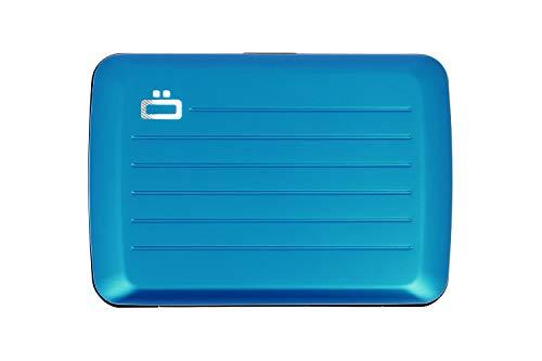 Ögon Smart Wallets - Stockholm V2 Cartera Tarjetero - Protección RFID: Protege Tus Tarjetas de Robar - hasta 10 Tarjetas + Recetas + Notas - Aluminio anodizado (Azul)
