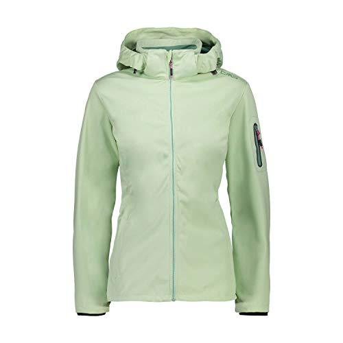 CMP Damen Softshelljacke Woman Jacket Zip Hood 39A5016 Leaf 40