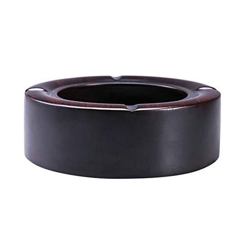 WQYHG houten asbak Chinese minimalistische ebbenhout tafel grote ronde woonkamer/kantoor decoraties/cadeau 4 maten beschikbaar