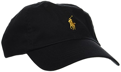 Polo Ralph Lauren Cotton Chino Gorra de béisbol, Negro (Polo Black XWDGX),...