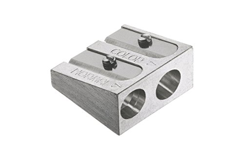 Faber-Castell 185710 - Doppelspitzer Metall für Farb und Kreidestifte