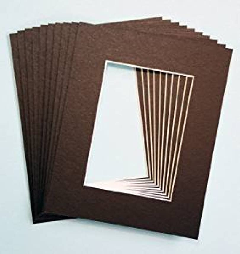 Pack of 25 Black 5x7 Picture Mats Matting with White Core Bevel Cut for 4x6 Pictures