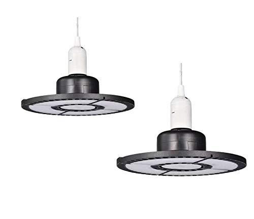TYCOLIT 100W LED Strahler Industrielampe, UFO LED Werkstattlampe 10000LM Hallenstrahler, IP67 Wasserdichte 90°Abstrahlwinkel Hallenbeleuchtung 6500K, Lampen LED High Bay Licht für Garage Industrie