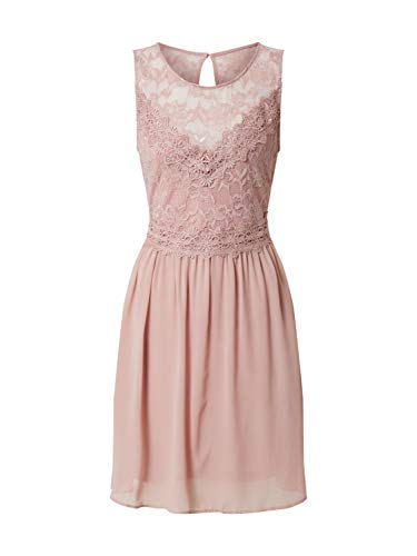Vila VISALLISA S/L Dress/DC/SU, Rosa(palemauve), Gr. 40