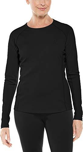 Coolibar - Camiseta de natación para mujer con protección solar UPF 50+ -  Negro -  Medium