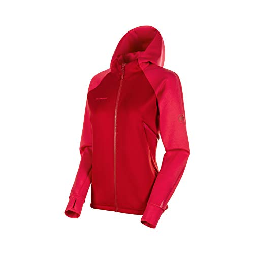 Mammut Damen Midlayer-Jacke mit Kapuze Avers Hooded, rot, M