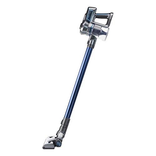 H.Koenig UP680 Scopa elettrica senza fili, spazzola speciale mobili, 2 velocità, compatto e leggero, autonomia 45min,Blu 100W