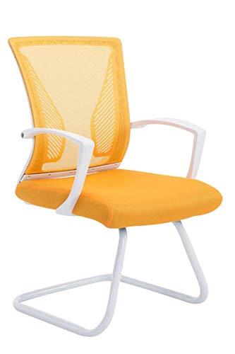 Silla de oficina amarilla ergonómica y cómoda