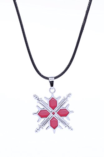 SDWKIT Vampire Knight Cosplay Accessory Cross Swords Emblem Pendant Necklace V1