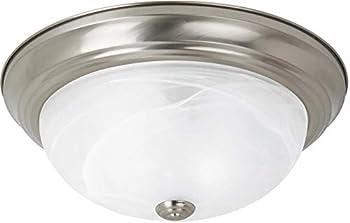 Sea Gull Lighting Windgate 1-Light Brushed Nickel Flush Mount w/LED Bulb