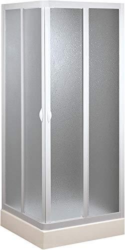 Forte BSE100001 Box Doccia Smart Angolo PVC-Acrilico (70 x 70 x h 185 cm) riducibile, Bianco