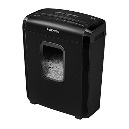 Fellowes 6M5 6-Sheet Powershred Micro-Cut Deskside Paper Shredder , Black, 3. 5 Gallon
