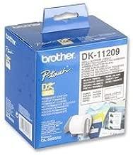 Brother DK11209 - Etiquetas precortadas de dirección pequeñas (papel térmico), 800 etiquetas blancas de 29 x 62 mm, Para impresoras de etiquetas QL