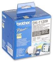 Brother DK-11209 Adressetiketten (62 x 29 mm, 800 Stück/Rolle, für Brother QL-Etikettendrucker) weiß