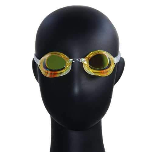 Tyron Performance Speed Goggle (gelb verspiegelt) | Schwimmbrille | Training und Wettkampf | Anti Fog Beschichtung | UV Schutz