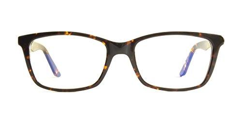 Pixel Eyewear Designer Computer Glasses with Anti-Blue Light Tint UV Protection, Anti-Glare, Full Rim, Acetate Frame Tortoise Color - Oryc Style