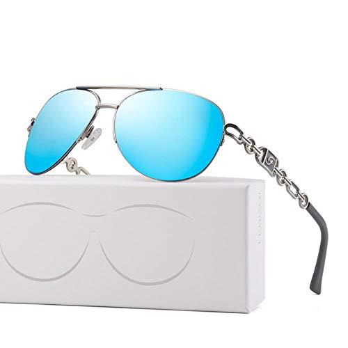 UKKD Gafas de sol Gafas De Sol Mujer Uv 400 Espejo Piloto Pink Pink White Sun Gasses Shades Dames-C3 Blue
