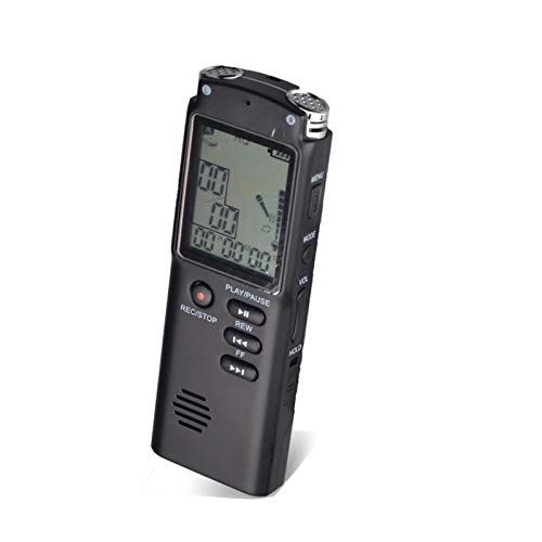 Lsmaa Digital Voice Recorder, Built-in Best Voice Activation Sensor Compact and Pocket Size Hi Fi Lossless Mp3 Music Player, Suitable for Class and Office Conversation (Capacity : 32GB)