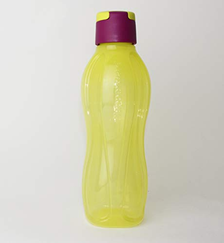 Tupperware EcoEasy - Botella con cierre de clip (750 ml), color amarillo y fucsia