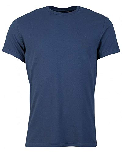 Emporio Armani Rear All Over Logo T-Shirt Large Navy