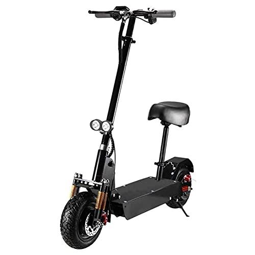 JAJU Scooter eléctrico Todoterreno para Adultos, bimetálico,amortiguación, portátil, Plegable, Marco de Acero de Alta dureza, Potencia del Motor 500 W, Rango de Crucero 25-30 km
