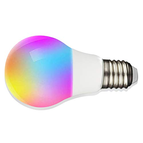 DXing WiFi Smart Light Bulb A21 E26 WiFi Multicolor LED Light Bulb 8 Watt (60 Watt Equivalent) 6500K+RGB Color Changing Compatible with Alexa Google Home No Hub Required (1Pack)