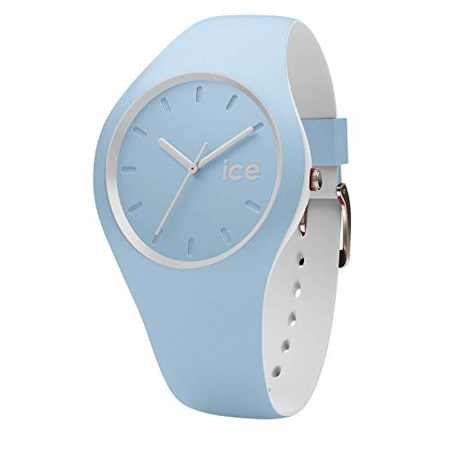 Ice-Watch - ICE duo White sage - Blaue Damenuhr mit Silikonarmband - 001489 (Small)