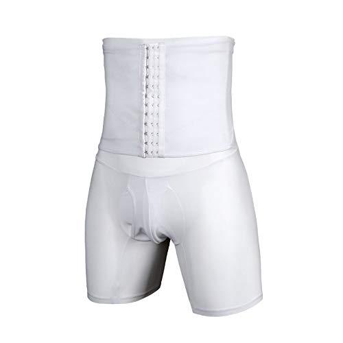 Aunt Susan Männerbauchweg Bodyshaper Slimming T-Shirt Men Miederbody Shapewear Figurformer Für MännerwhiteXXL
