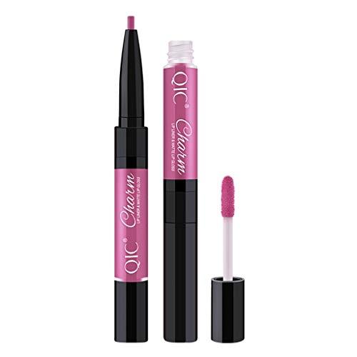 CATHYOYO Crayon à Lèvres Contour Des Lèvres Waterproof Doublure à Lèvres Lustre à Lèvres 12 Couleurs (B)