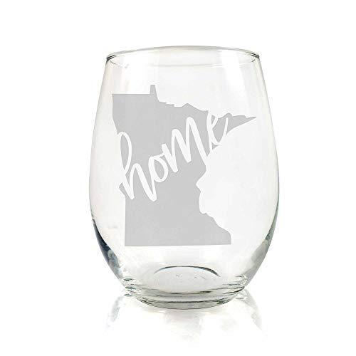 Minnesota State Stemless Wine Glass - Minnesota Gift, Minnesota Wine Glass, Minnesota Fan Gift