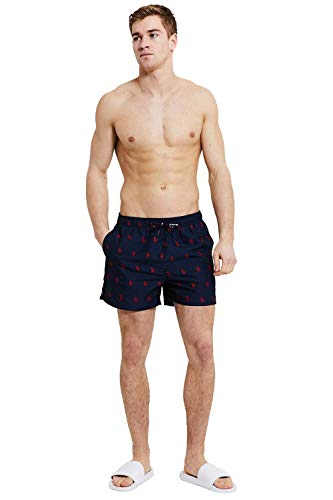 U. S. Polo Assn. Homme Short Natation Cordon Classique Slip Natation - Marine Blazer Bleu, XXL