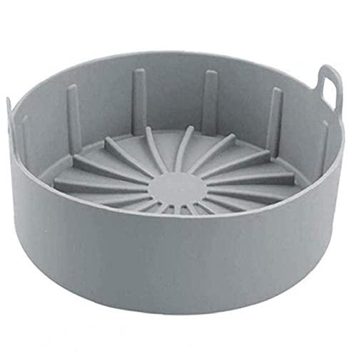 FEEE-ZC Freidora de Aire Olla de Silicona Reemplazo de la Cesta de la freidora de Aire para revestimientos Accesorio de freidora de Aire S Gris Herramientas de Cocina Gadgets Muy Personal