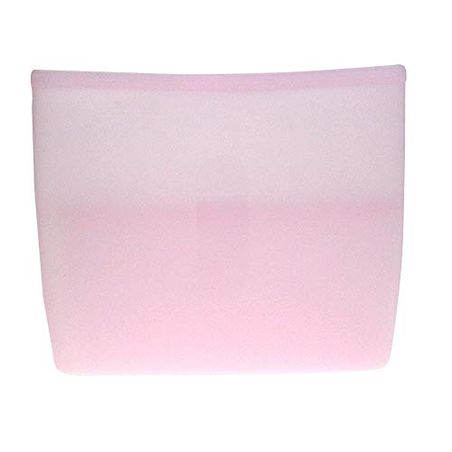 Siliconen opbergzakjes, herbruikbare diepvrieszakjes, levensmiddelbewaarzakjes voor groentesnackvlees, fruit 17,8 * 3,8 * 15,2 cm roze