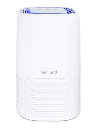 Miniland 89391 - Miniland Purificador De Aire Con Filtro Hepa, Prefiltro, Carbón Activo, Luz Ultravioleta - Cadr 100. Ionizador, Cuatro Velocidades, Luz De Compañía. Para Bebé, unisex