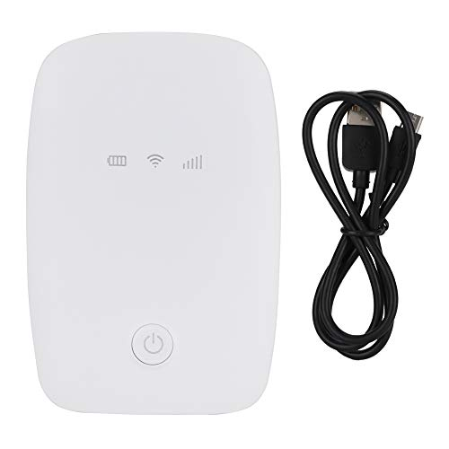 Zwinner Wifi Box, Portable Hotspot Low Power Consumption Mini Wifi Box Portable Wi-fi Router Large Capacity Battery for Traveling Outdoors for Tablet Notebook(white)